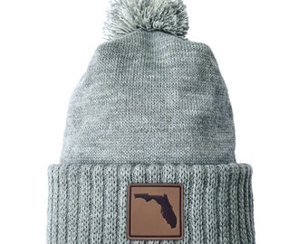 Homeland Tees Florida Leather Patch Cuff Beanie