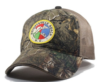 Homeland Tees Wrightsville Beach Realtree Camo Trucker Hat