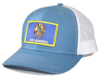 Homeland Tees Oklahoma Flag Patch Trucker Hat