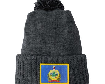 Homeland Tees Vermont Flag Patch Cuff Beanie