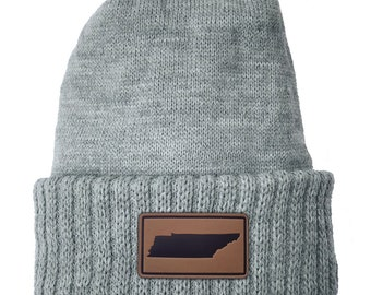 Homeland Tees Tennessee Leather Patch Cuff Beanie
