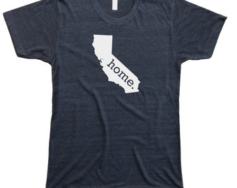 Homeland Tees California Home State Men's Tee Shirt T-Shirt Tri-Blend