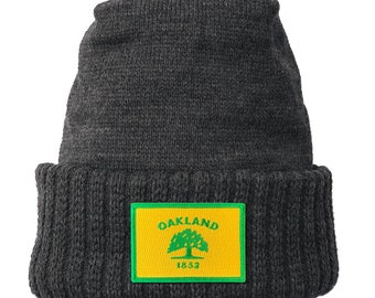 Homeland Tees Oakland California Flag Patch Cuff Beanie