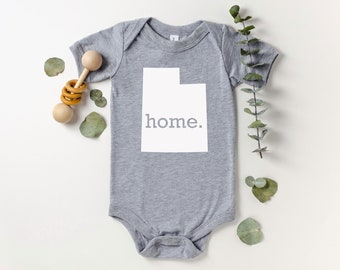 Homeland Tees Utah Home Bodysuit Coming Home Outfit Shower Gift Newborn Baby Boy Girl