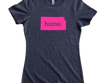 Kansas Home State T-Shirt Women's Tee PINK EDITION - Sizes S-XXL
