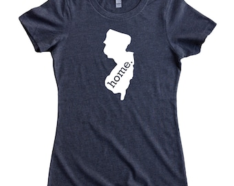 Homeland Tees New Jersey Home State Women's T-Shirt