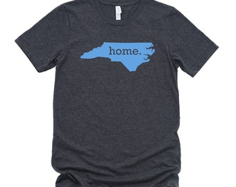 Homeland Tees North Carolina Home State T-Shirt CAROLINA BLUE LOGO
