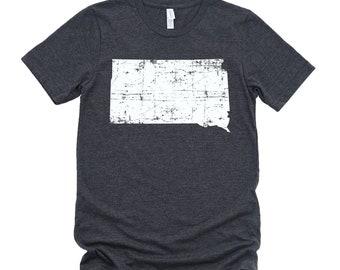 Homeland Tees South Dakota State Vintage Look Distressed Unisex T-shirt