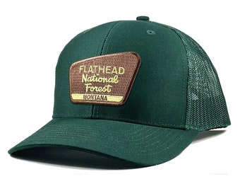 Homeland Tees Flathead National Forest Montana Patch Trucker Hat