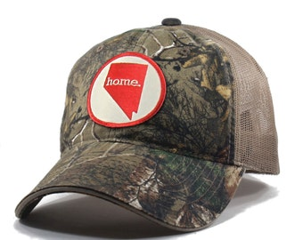 Homeland Tees Nevada Home State Realtree Camo Trucker Hat