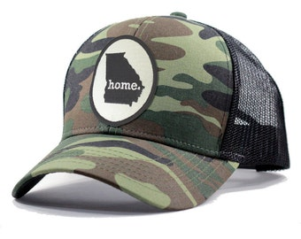 925933bf4ff Homeland Tees Georgia Home Army Camo Trucker Hat