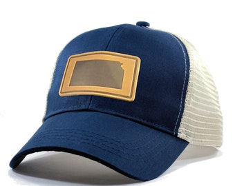 Homeland Tees Kansas Leather Patch Hat - Trucker