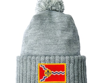 Homeland Tees St. Louis Flag Patch Cuff Beanie