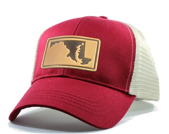 Homeland Tees Maryland Leather Patch Hat - Trucker
