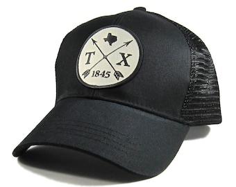 Homeland Tees Texas Arrow Hat - All Black Trucker