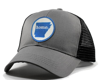 Homeland Tees Arkansas Home Trucker Hat - Blue Patch