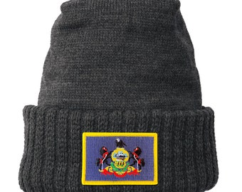 Homeland Tees Pennsylvania Flag Patch Cuff Beanie
