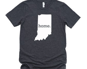 Homeland Tees Indiana Home State T-Shirt - Unisex
