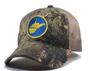 Homeland Tees West Virginia Home State Realtree Camo Trucker Hat