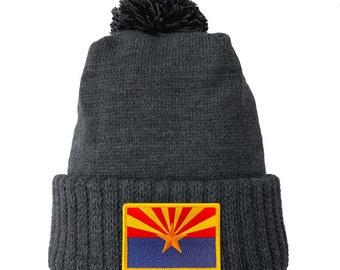 Homeland Tees Arizona Flag Patch Cuff Beanie