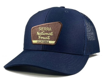 Homeland Tees Sierra National Forest California Patch Trucker Hat
