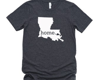 Homeland Tees Louisiana Home State T-Shirt - Unisex
