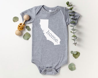 Homeland Tees California Home Bodysuit Baby Boy Girl Newborn Coming Home Outfit Shower Gift