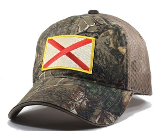 Homeland Tees Alabama Flag Hat - Realtree Camo Trucker