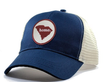 Homeland Tees South Carolina Home State Trucker Hat - Red Patch