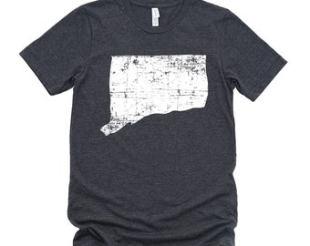 Homeland Tees Connecticut State Vintage Look Distressed Unisex T-shirt