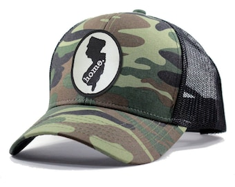 Homeland Tees New Jersey Home Army Camo Trucker Hat