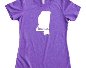 Homeland Tees Mississippi Home State Women's T-Shirt