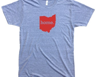 Homeland Tees Men's Ohio Home T-shirt RED LOGO