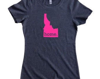 Homeland Tees Idaho Home State Women's T-Shirt - Pink Edition