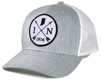 Homeland Tees Indiana Arrow Patch Trucker Hat