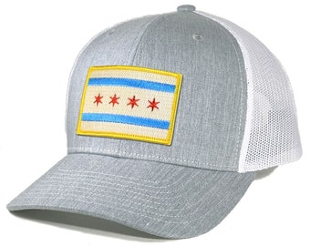 Homeland Tees Chicago Flag Patch Trucker Hat