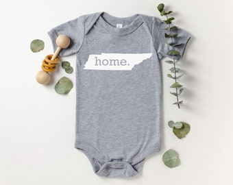 Homeland Tees Tennessee Home Bodysuit Coming Home Outfit Shower Gift Newborn Baby Boy Girl