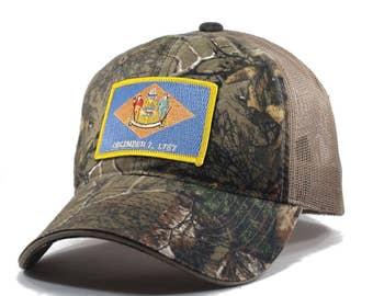 Homeland Tees Delaware Flag Hat - Realtree Camo Trucker