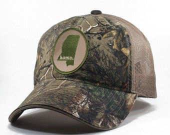 Homeland Tees Mississippi Home State Realtree Camo Trucker Hat