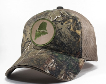 8c2d0f013 Homeland Tees Maine Home State Realtree Camo Trucker Hat