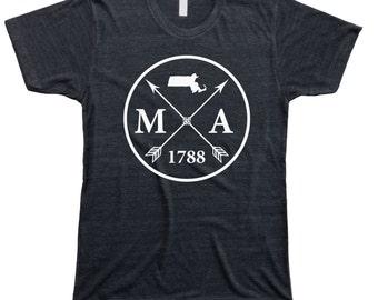 Homeland Tees Men's Massachusetts Arrow T-Shirt