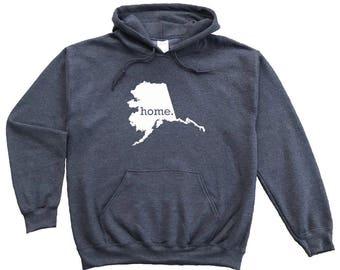 Homeland Tees Alaska Home Pullover Hoodie Sweatshirt