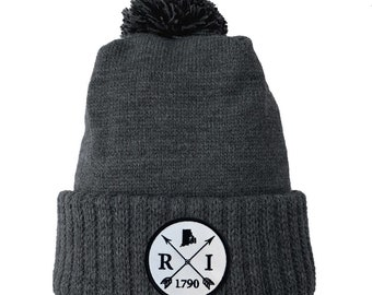 Homeland Tees Rhode Island Arrow Patch Cuff Beanie