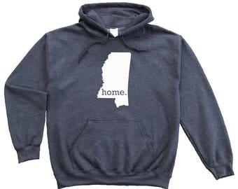 Homeland Tees Mississippi Home Pullover Hoodie Sweatshirt