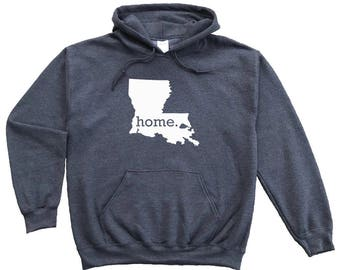 Homeland Tees Louisiana Home Pullover Hoodie Sweatshirt