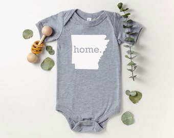 Homeland Tees Arkansas Home Bodysuit Coming Home Outfit Shower Gift Newborn Baby Boy Girl