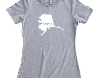 Homeland Tees Alaska Home State T-Shirt Women's T-Shirt