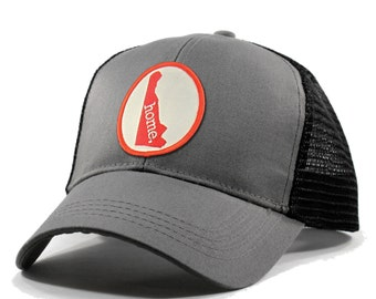 Homeland Tees Delaware Home Trucker Hat - Red Patch