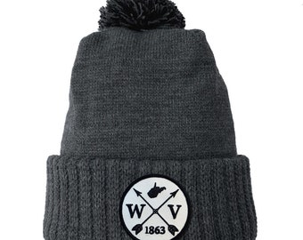 Homeland Tees West Virginia Arrow Patch Cuff Beanie