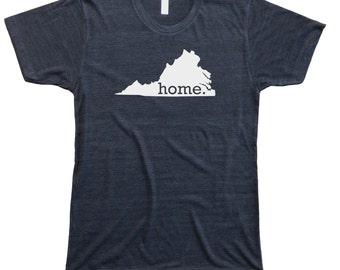Homeland Tees Men's Virginia Home State T-shirt